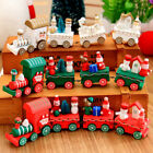 Xmas Wooden Carriage Train Kids Favor Christmas Gifts Ornament Tree Decor