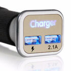 2 PACK Dual Port Car Charger Adaptive Fast Charging Quick Charge 12V Adapter 2x