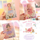 Afrocat Paper Doll Mate 2019 Daily Diary Glittering Schedule Memo Journal Note