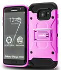 Samsung Galaxy S7 Edge Case Heavy-Duty Rugged Hybrid Shell Kick-Stand Cover