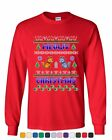 Meowy Christmas Ugly Sweater Long Sleeve T-Shirt Cat Kitten Purr Merry Xmas Tee