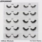 LEHUAMAO® 100Pairs/Lot Mink Eyelashes NEW 3D Extension Makeup