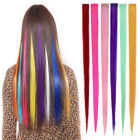 """2pcs 53cm/22"""" Colorful Long Clip in Hair Piece Highlight HAIR EXTENSION Straight"""