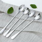 Quality Long handle Korean Soup Spoon Stainless Steel Silver Coffee Tea Spoons