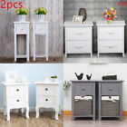 2X Hallway Chest of Drawer Nightstand Bedside Table Cabinet Storage Organiser