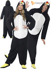 Adult Penguin Costume Animal Christmas Festive Fancy Dress Outfit Mens Ladies