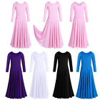 US Kid Praise Liturgical Long Skirt Dress Girl Church Dance Ballerina Praisewear