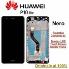 Lcd display huawei p10 lite frame touch screen was-lx1a  schermo vetro originale