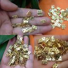 100pcs Mini Brass Plated Hinge - Small Decorative Jewelry Cigar Box Hinges Parts