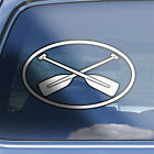 Canoe Oval Decal - Canoeing Paddle Oar River Rafting Rowing Emblem Logo Sticker