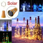 3/6 Solar Wine Bottle Lights 10 Led Cork Shaped Fairy String Light Garden Decor