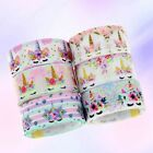 5 Yards Rainbow Unicorn Printed Grosgrain Ribbon Polyester Hairbow Unique