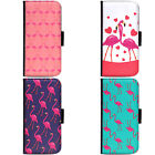 Art Couple Design Flamingo Pattern Phone Wallet Flip Case Cover for Samsung