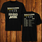 Shinedown tour 2019 with Asking Alexandria, Papa Roach T-shirt size S - 5XL image