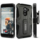 T-Mobile REVVL Case, UMAX Dual Layer Case with Kickstand & Holster