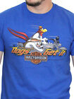Harley-Davidson Looney Tunes Mens Foghorn Motorcycle Blue Short Sleeve T-Shirt image