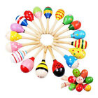 2 10PCS Wooden Maraca Baby Kid Music Instrument Rattle Shaker Educational Toy UK