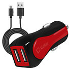 Cellet RapidCharge 12W 2.4A Dual USB Car Charger with Micro USB Cable