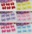 Внешний вид - NEW 100PC DIY Pearl Lace bow Satin Ribbon Appliques Wedding festival Bowknot