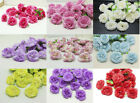 Внешний вид - NEW 30pcs Artificial Rose Silk Flowers Heads Bulk Wedding Dia 5cm Many Colors