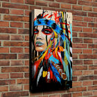 Native Indian Woman Canvas Oil Painting HD Print Picture Home Wall Art Decor