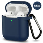 AirPods Silicone Case Protective Cover KeyChain for Apple AirPod Charging 2 & 1