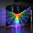S216 Belly Dance Costume LED Isis Wings with 2 Sticks 7 Colors