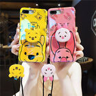Cute Pooh Piglet Airbag Holder Stand Lanyard Case Cover for iPhone XS Max XR 7 8