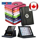 iPad Case Cover Leather Shockproof 360 Rotating Stand ALL MODELS  <br/> Fast and free shipping from Canada !!!