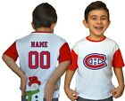 Montreal Canadiens Kids Tee Shirt NHL Personalized Hockey Youth Jersey Unisex $11.95 USD on eBay