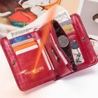 Women Wallet Leather Small Short Purses Luxury Coin Pocket Money Bag Custom Name image