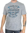 Harley-Davidson Mens Vital Freedom B&S Flames Grey Slub Short Sleeve T-Shirt $9.99 USD on eBay