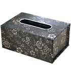 Home Car Hotel Accessory PU Leather Tissue Box Toilet Durable Paper Container UK