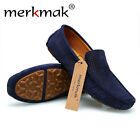 NEW Men Genuine Leather Casual Slip On Loafer Shoes Moccasins Soft Driving Shoes