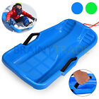 Child & Adult Durable Plastic Toboggan Snow Sled Board haul gear with Hand Brake