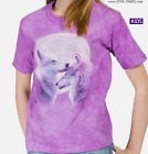 Love Wolf T-Shirt / Pinkish Tie Dye, Wolves Moon, Cool Pink Kids t-shirt