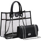 Dasein 2-in-1 Classic Clear Transparent Tote 5 Colors Satchel NEW