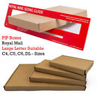 10 25 50 LARGE LETTER STRONG CARDBOARD SHIPPING MAILING POSTAL PIP BOX  FREE P&P
