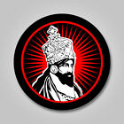 Emperor Haile Selassie I Him Jah Sticker Decal Vinyl Rasta Color Ethiopia Reggae