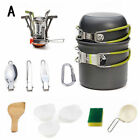 1 Set Outdoor Cooking Set Pot Bowl Cookware Cutlery Tableware Camping Picnic