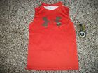 UNDER ARMOUR New NWT Boys Shirt Tank Top Camo Camouflage Realtree Orange 5 6