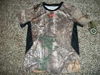 UNDER ARMOUR New NWT Boys Youth Shirt Camo Camouflage Realtree Black Side 5 6
