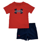 New Under Armour Infant Boys Shirt and Short 2 Piece Set Choose Size MSRP $28.00