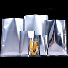 Heat Seal Flat Clear Aluminum Vacuum Bags / Silver Mylar Foil Food Pouches