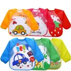 Baby Bibs Burp children drawing eat food cloths waterproof long sleeve