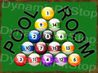 Pool Room Rustic Tin Sign or Decal, Man Cave, Snooker, Balls, Table, Accessories $17.4 USD on eBay