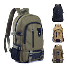 Mens Vintage Canvas Backpack Satchel Laptop Rucksack School Travel Camping Bag