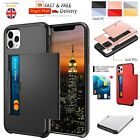 Hybrid Shockproof Bumper Armor Card Holder Case For Apple Iphone 7 8 Xr Xs Max