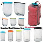 Внешний вид - Ultra Light Mesh Stuff Sack Storage Bag Drawstring Bag For Travel Camping Hiking