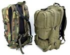 Military Style Backpack Day Sack 25L Bag With Hydration Pack / Bladder Airsoft